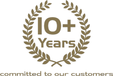 Accurate Pests 10 years of service badge